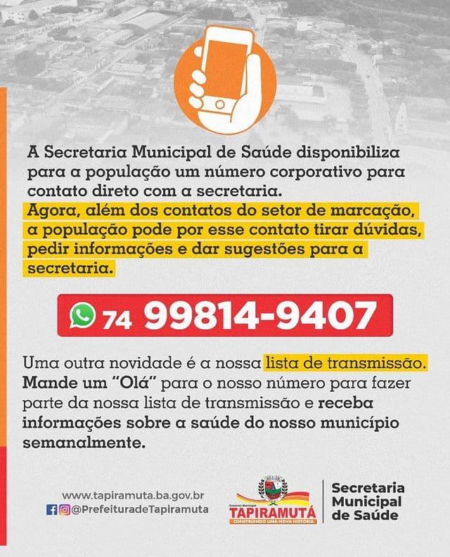 Secretaria de Saúde disponibiliza número corporativo para população