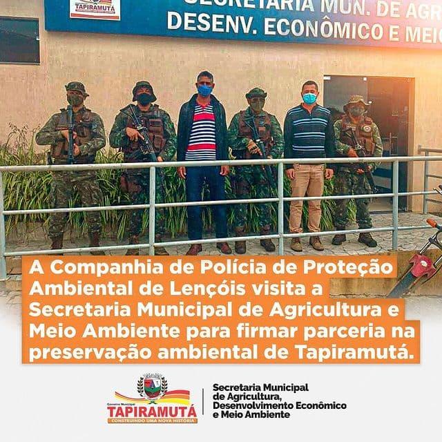 Prefeitura firma parceria com Companhia de Polícia de Proteção Ambiental de Lençóis
